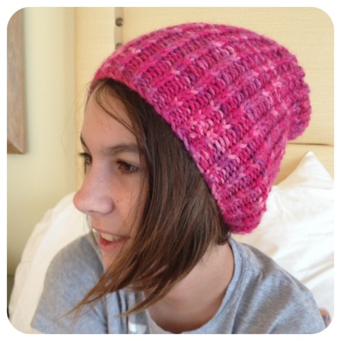 Simple Slouchy Hat Free Knitting Pattern