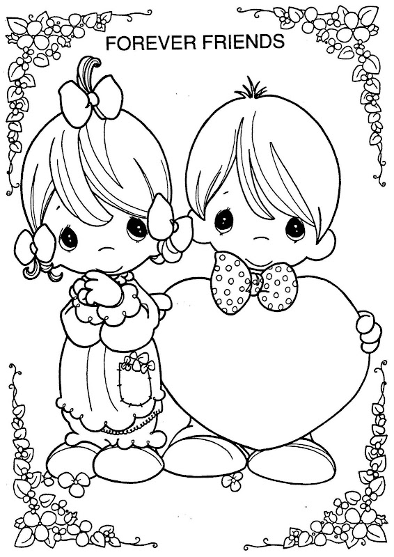 precious moments valentine coloring pages - photo#3