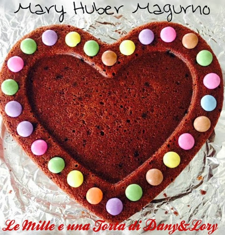 cuore di cioccolato e smarties