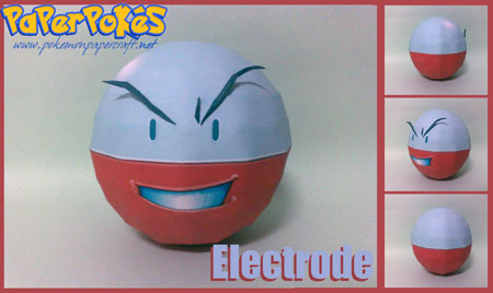 Pokemon Electrode Papercraft v3