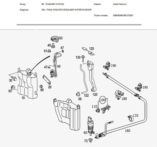 mercedes washer diagram