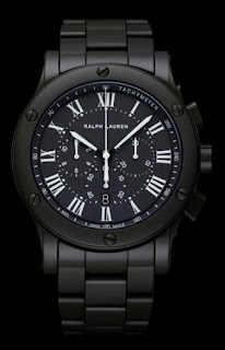 Montre Ralph Lauren Sporting Chronograph Black Ceramic 39mm