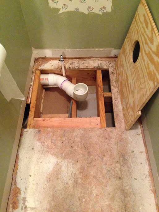 Replacing A Toilet Drain Line In Close Quarters