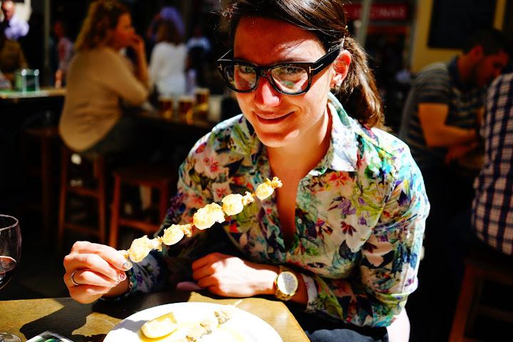 grilled calamari pepa y pepe tapas bar in Malaga