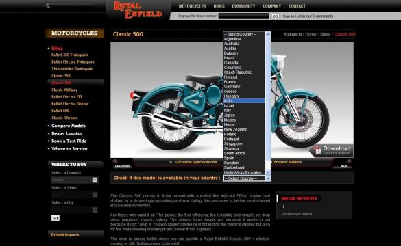 2011 Royal Enfield Product Details