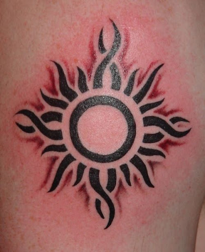 sun tattoos tribal