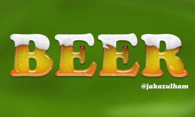 Beer dengan photoshop