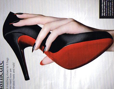 Lindas unhas inspiradas nos sapatos Christian Louboutin