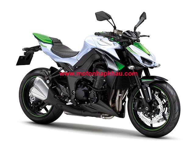 Kawasaki Z1000 ABS 2016 Trắng Xanh