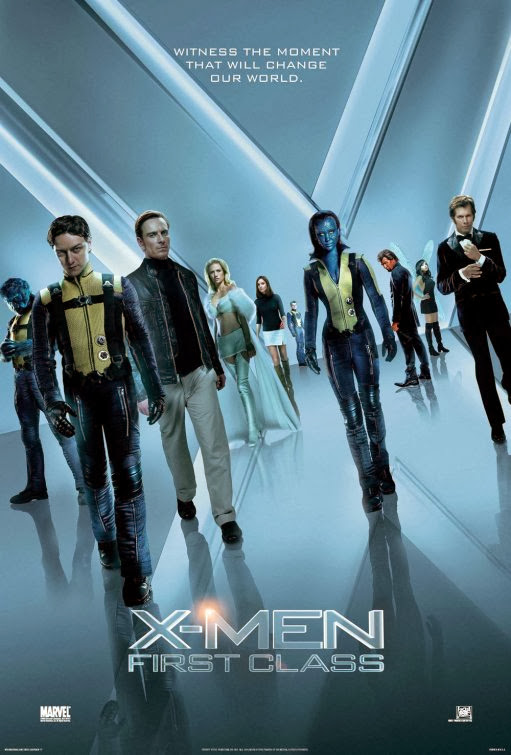 Poster Of X-Men First Class (2011) Full Movie Hindi Dubbed Free Download Watch Online At Alldownloads4u.Com