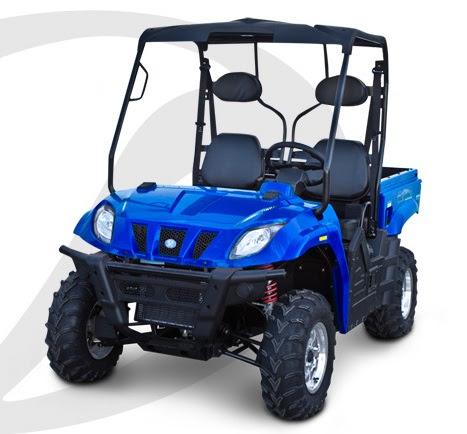 400cc ATX Linhai Bighorn 28 4wd Farm Utility UTV Blue