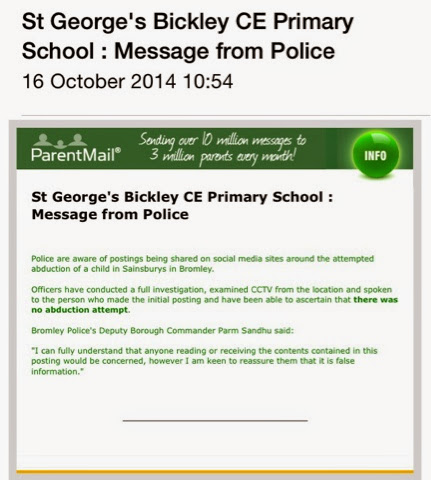 Parent Alert Re Bromley Child Abduction