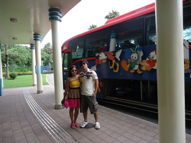 Ed and Lady Excited going to Disneyland Hongkong