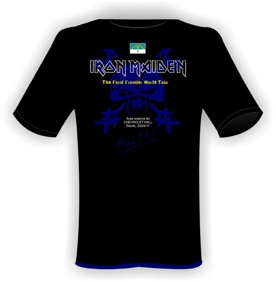 f2a8f8deac Reclamatório do Thiers  Música  Camisas do show do Iron Maiden em ...