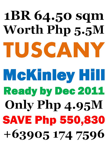 Tuscany McKinley Hill 1 Bedroom Sulit