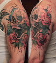 skull-and-roses-tattoo-design-idea5