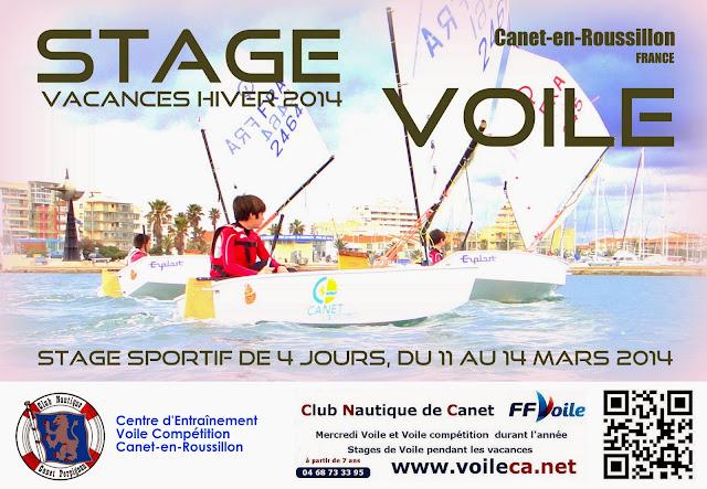 Stage voile Canet Optimist vacances d'hiver 2014