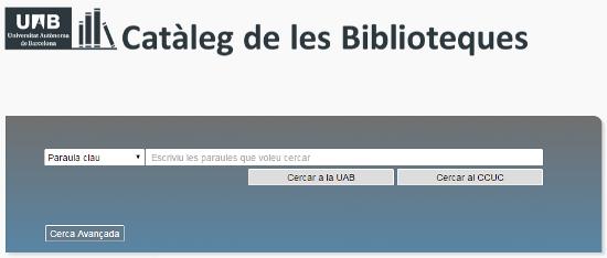 cataleg biblioteques UAB