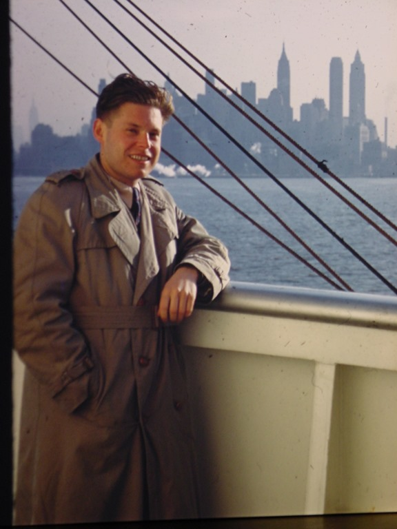 Arrival to New York from Germany in 1952