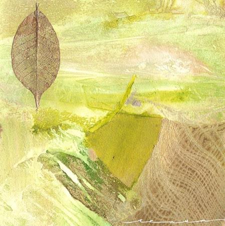 """""""Gold Leaf #2"""" by artist Renea Erickson. 12x12, $125.00"""