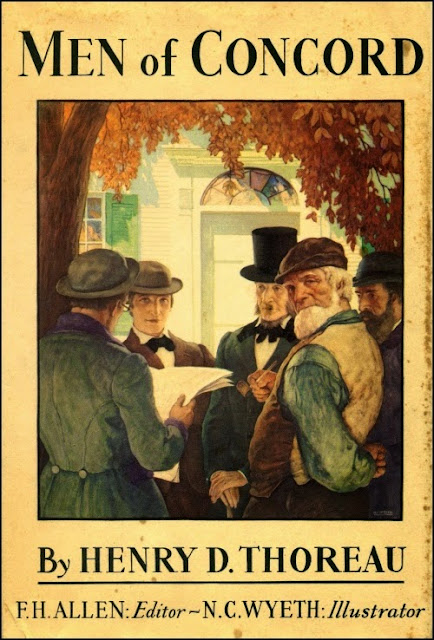 N. C. Wyeth - Men of Concord, cover illustration