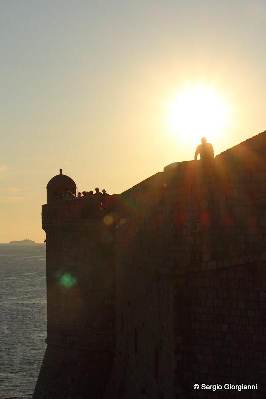 Silhouette delle mura di Dubrovnik
