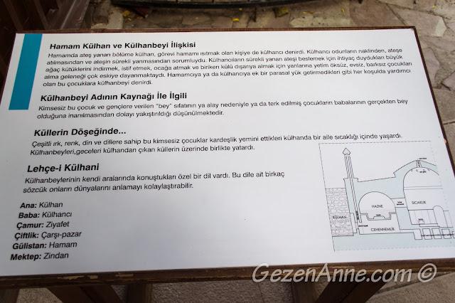 hamam külhan ve külhanbeyi ilişkisi, Türk Hamam Müzesi Beypazarı