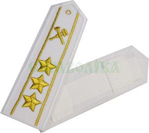 УЗ Погони Старший начальницький склад білі (2пр. 3зірки)