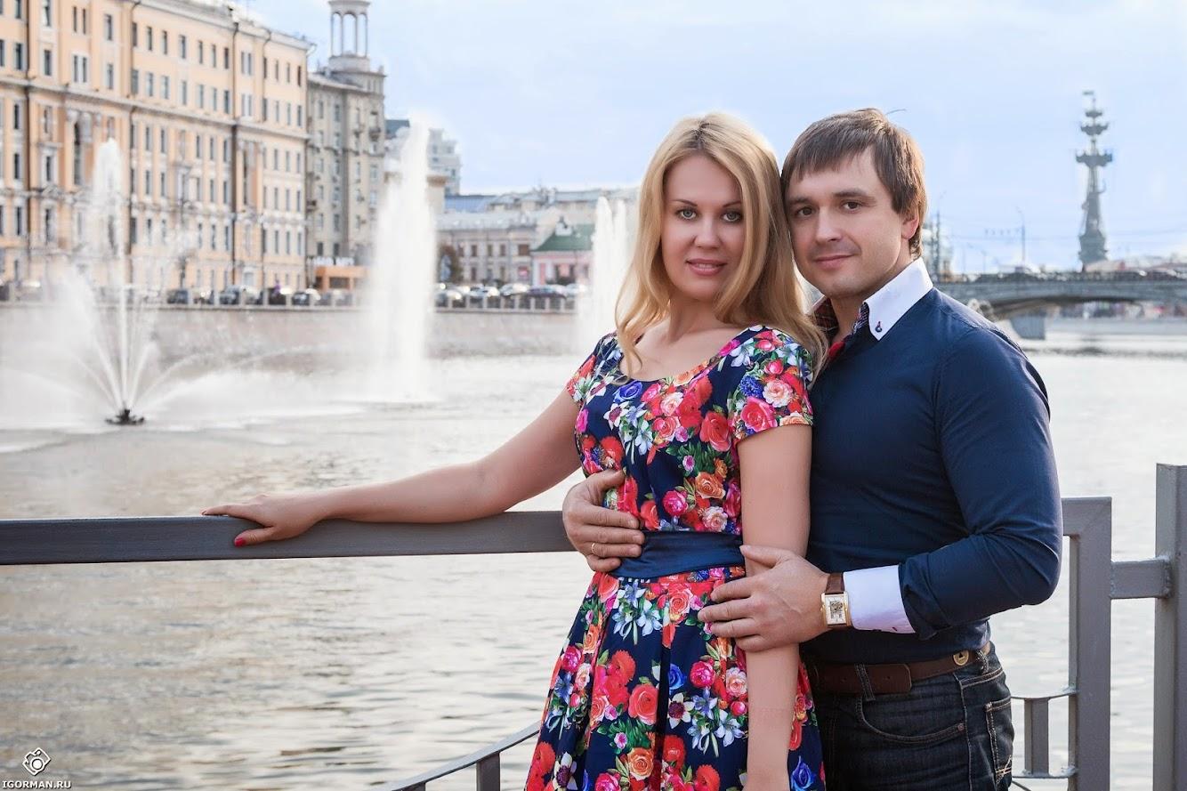 Фотосессия - мост влюбленных (причал) - Лужков мост, Москва