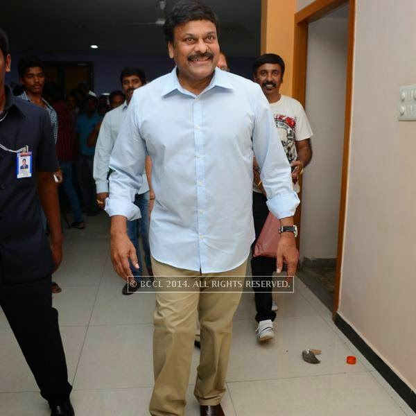 Chiranjeevi during a filmi event, held in Hyderabad.