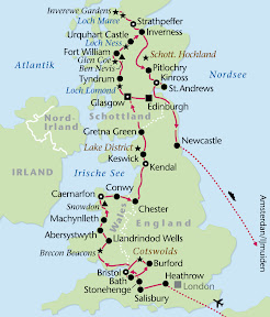 England, Wales, Schottland, Rundreise, Heideker Reisen, Salisbury, Bath, Bristol, Großbritannien, St. Mary´s Cathedral, Magna Charta, Suspension Bridge, Bath, Roman Bath, Pumproom, Cotswolds, Cotswolds Hills, Lacock, Cheltenham, Caernarfon, Brecon Beacons, Aberystwyth, Snowdonia Nationalpark, Betws-y-Coed, Bangor, Conwy, Chester, Kendal, Penrith, Lake District, Keswick, Gretna Green, Glasgow, Edinburgh, Holyrood Palace, Loch Lomond, Loch Ness, Urquhart Castle, Strathpeffer, Trossachs, Highlands, Fort Augustus, Inverness, Inverewe Gardens, Pitlochry, Grampian Mountains, St. Andrews, Newcastle