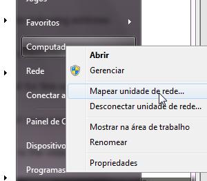 Mapear unidade de rede no Windows 7