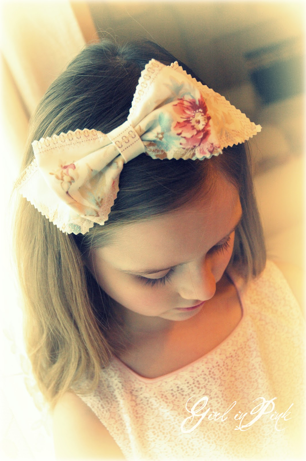 Floppy Fabric Bow Headband Tutorial Free Sewing Pattern