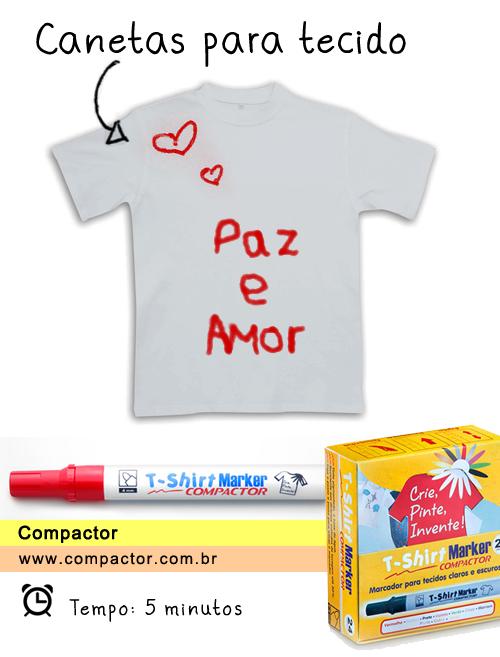 camiseta customizada para ano novo com caneta para tecido