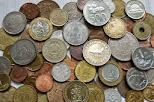 LOTE DE 1/4 Kg de monedas mundiales DE