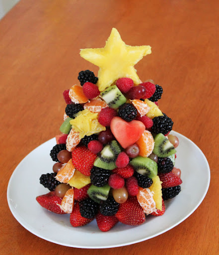 arvore natalina de frutas