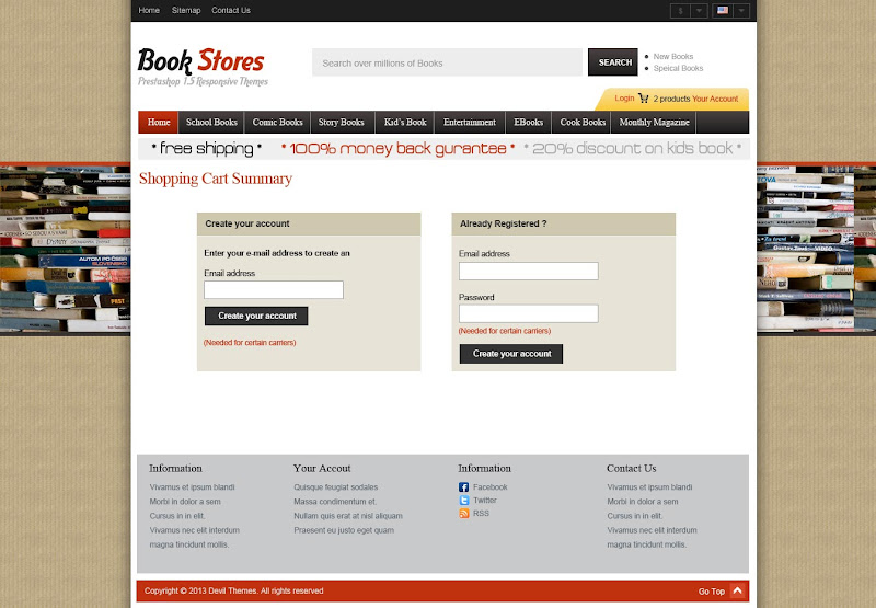 Book Store 1.0 - Login page