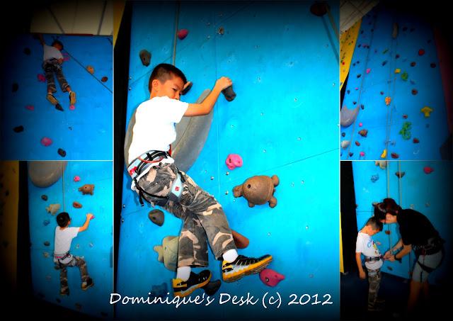 Monkey boy climbing
