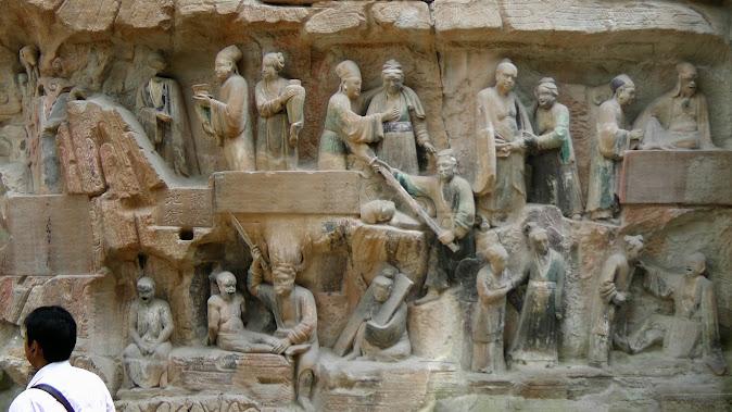 Dazu Grottos (Baoding Shan): Mural depicting daily life [© BMCL]