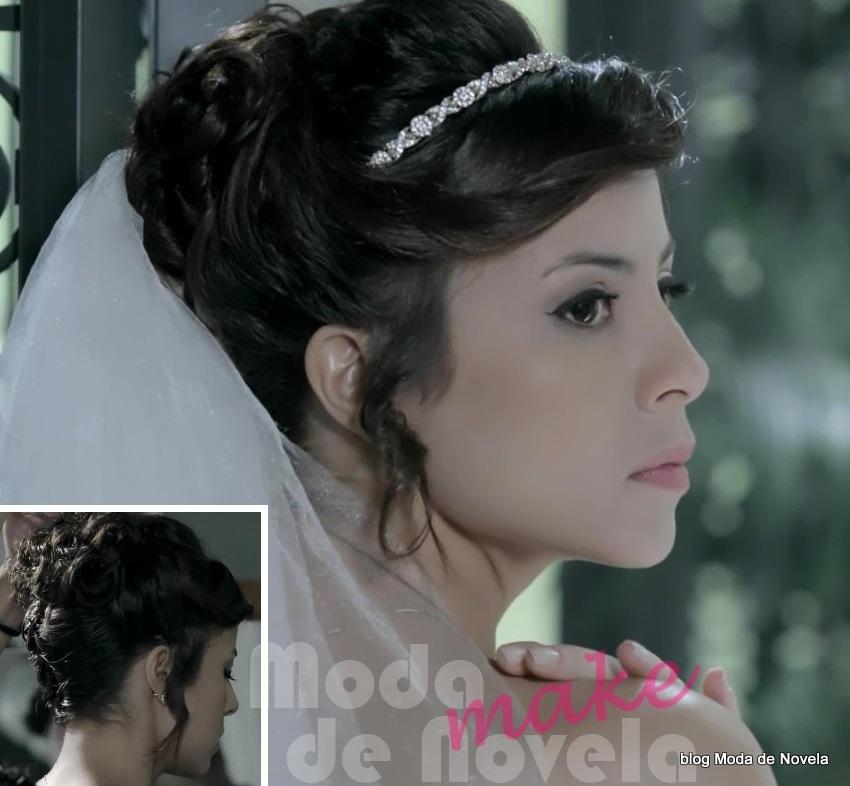 moda da novela Império, maquiagem de noiva da Maria Clara