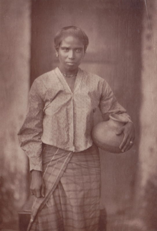 Albumen Photograph of a Woman - Ceylon (Sri Lanka) - 1870's