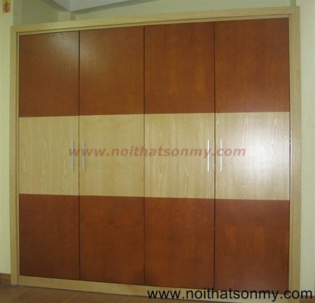 Tủ âm tường bằng gỗ 01