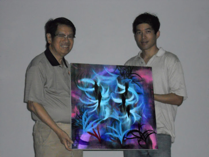 Victor Angelo With Dr. Oei Hong Djien OHD Museum Modern Contemporary Indonesian Art