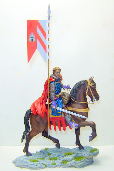 Crusader Knight c.1250 (Mounted) -  Andrea Miniatures 90mm DSC08119