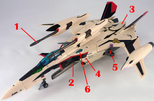 Macross Frontier YF-29 Durandal Isamu Dyson Custom Armament weapon position