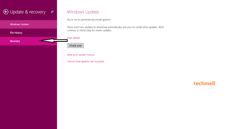 Recovery in Windows 8.1