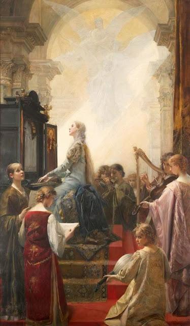 Eduard Veith - Saint Cecilia