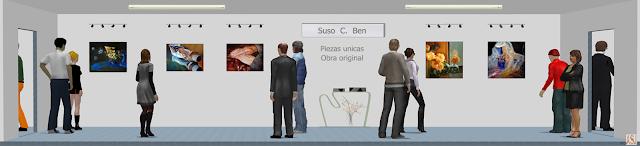 Sala de exposición virtual de pinturas de Suso C. Ben