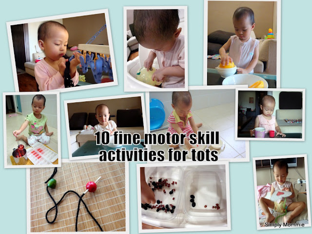 fine motor skill activities for tots
