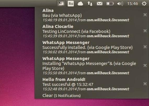 LinConnect o cómo recibir las notificaciones del movil en Ubuntu